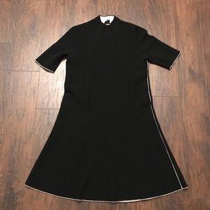 Theory Small Little Black Dress Wool Size Small